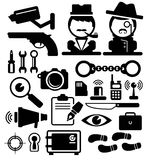 Detective icons  Stock Photos