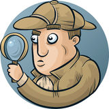 Detective Investigating Royalty Free Stock Photo