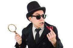 Detective joven con el tubo Fotos de archivo libres de regalías