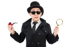 Detective joven con el tubo Foto de archivo