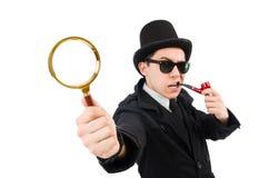 Detective joven con el tubo Fotos de archivo
