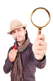 Detective joven con el tubo Imágenes de archivo libres de regalías
