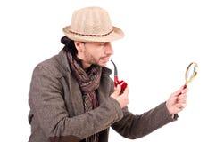 Detective joven con el tubo Imagenes de archivo