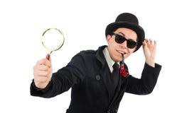 Detective joven con el tubo Imagen de archivo libre de regalías