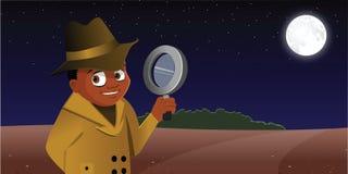 Detective kid Royalty Free Stock Image