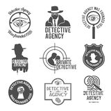Detective label set Royalty Free Stock Photo