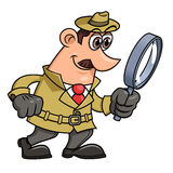 Detective is looking through the loupe 2 Royalty Free Stock Image