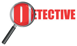 Detective magnifying glass Royalty Free Stock Photography