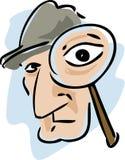 Detective magnifying glass Stock Photos