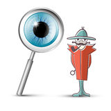 Detective with Magnifying Glass Stock Images