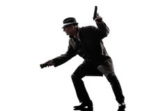 Detective man criminal investigations  silhouette Stock Photography
