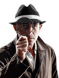 Detective man criminal investigations  silhouette Stock Image