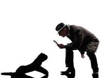 Detective man criminals investigations  silhouette Stock Image