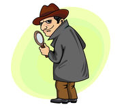 Detective man Royalty Free Stock Image