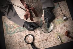 Detective at work Royalty Free Stock Images