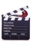 Detective movie clapper. Studio cutout stock photos