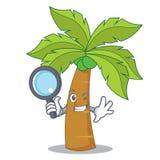 Detective palm tree character cartoon Royalty Free Stock Photography