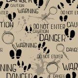 Detective pattern Stock Image
