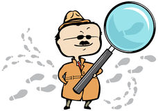 Detective / private investigator, magnifying glass Stock Image