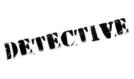 Detective rubber stamp Royalty Free Stock Photo