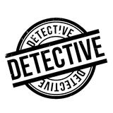 Detective rubber stamp Royalty Free Stock Image