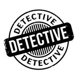Detective rubber stamp Royalty Free Stock Photos