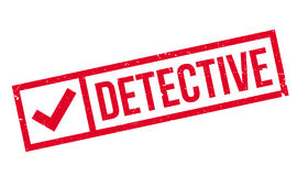 Detective rubber stamp Stock Images