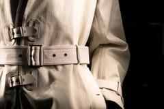Detective's Jacket (2). Undercover Cop Retro-Style Trench Coat Stock Photo
