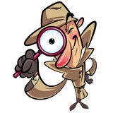 Detective search. Looking through big lens Stock Photo