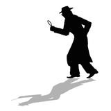 Detective silhouette Royalty Free Stock Photo