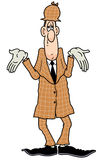 Detective standing. Showing cannot find anything Royalty Free Stock Photography