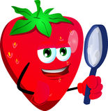 Detective strawberry Royalty Free Stock Image