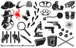 Detective vector icons Royalty Free Stock Image