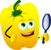Detective yellow bell pepper Royalty Free Stock Photography