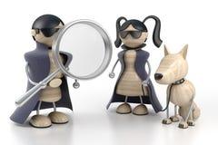 Detectives vector illustratie