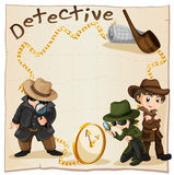 Detectives looking for clues Stock Photos