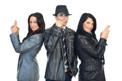 Detectives team royalty free stock photography