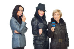 Detectives women Royalty Free Stock Photo