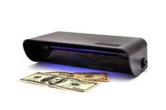 Detector banknotes Royalty Free Stock Photography