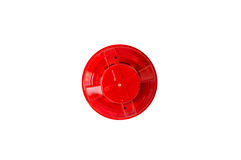 Detector de humo rojo Fotografía de archivo