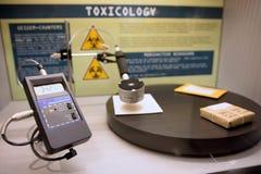 Detector de la radiación de Digitaces Foto de archivo libre de regalías