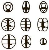 Detector de metales de la bobina Fotografía de archivo libre de regalías