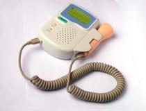Detector fetal del ritmo cardíaco de Doppler Imágenes de archivo libres de regalías