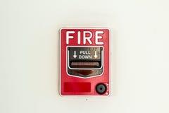 Detector la alarma de incendio fotografía de archivo