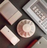 Detectores del humo y de incendios Imagen de archivo libre de regalías
