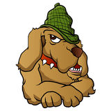 Detektiv dogKarikatur Lizenzfreies Stockfoto