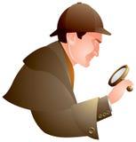 Detektiv, suchend, Holmes Stock Abbildung