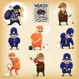 Detektivromanen med stjäler och kriminalaren Royaltyfria Foton