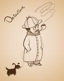 Detektyw z psem Obrazy Stock