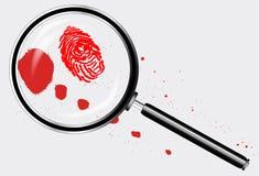 Detektywi Powiększa - szkło ilustracja wektor